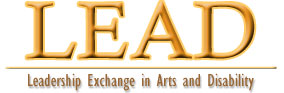 Leadership Exchange in Arts and Disability header
