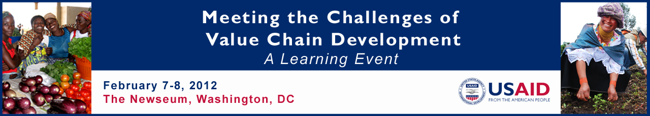 Meeting the Challenges of Value Chain Development: A Learning Event