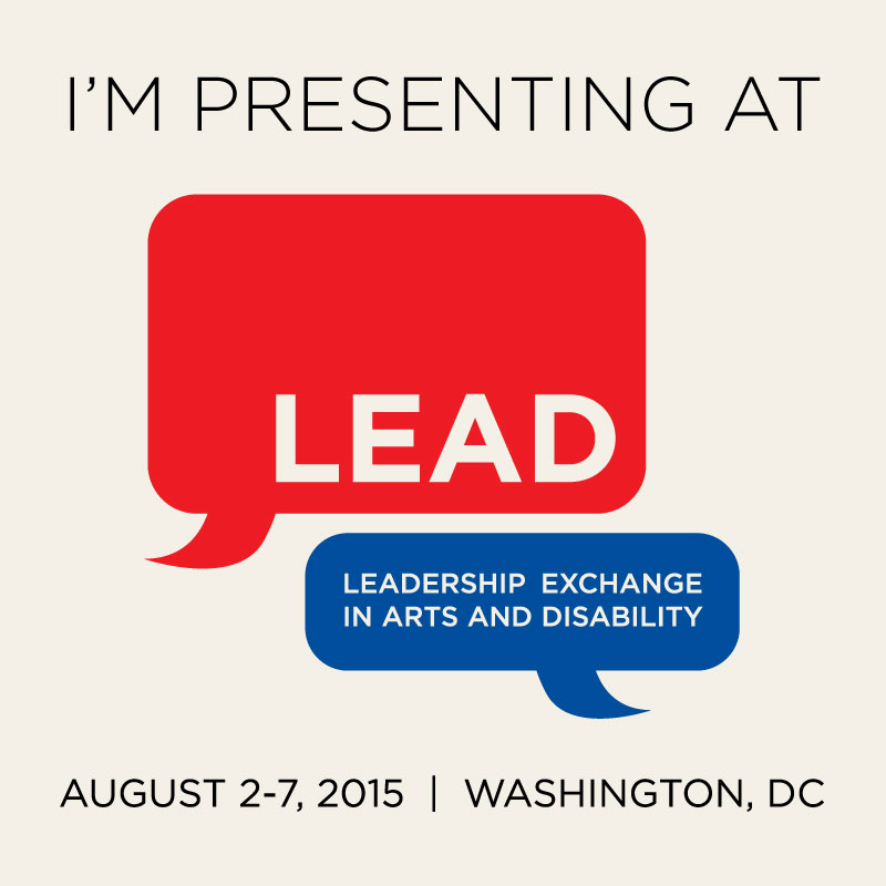 I'm presenting at LEAD. Washington, DC August 2-7, 2015