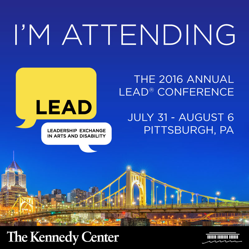 Image of Pittsburgh at night, with the text: I'm Attending the 2016 LEAD Conference. July 31 to August 6 in Pittsburgh, PA