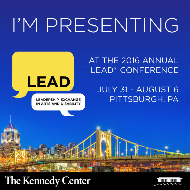 Image of Pittsburgh at night, with the text: I'm Presenting at the 2016 LEAD Conference. July 31 to August 6 in Pittsburgh, PA
