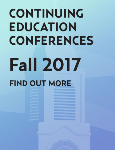 Continuing education conferences - Fall 2017