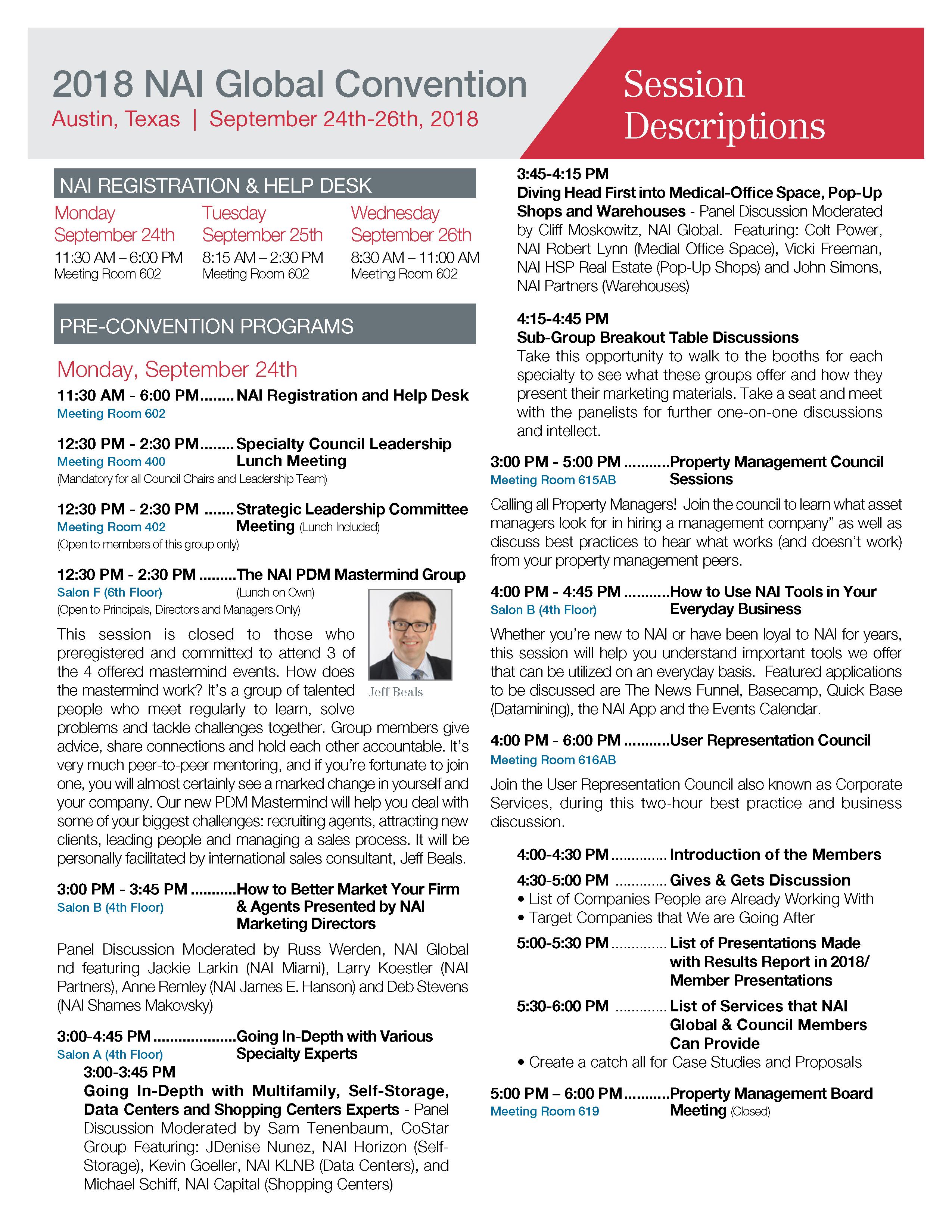 2018 NAI Global Convention