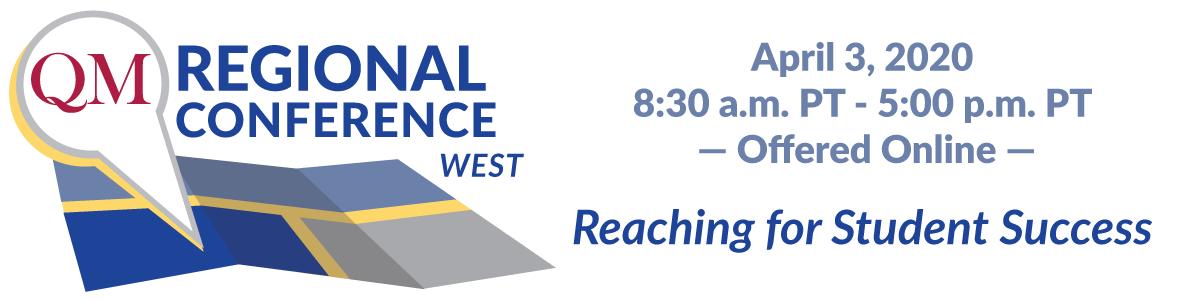 QM West Regional Online Conference banner